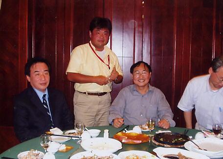 寧波市文物考古研究所教授林士民先生を囲んだ夕食会