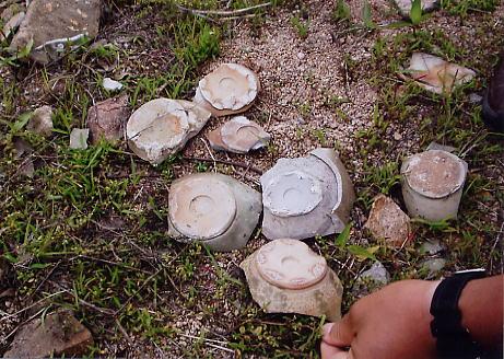上林湖越窯古窯址に散布する北宋代の陶磁片