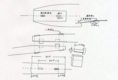 Fig.6 西日本一帯の普通の櫓の作製寸法