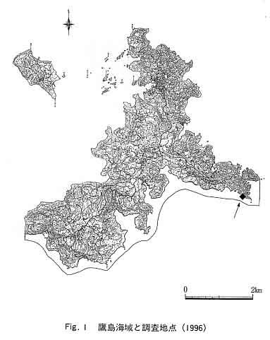 Fig.1 鷹島海域と調査地点
